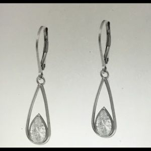 New DIAMONIQUE 2 Ct. Sterling Leverback Earrings